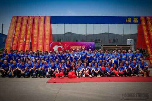Auger Torque celebrate 10-year anniversary of manufacturing facility in China